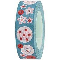 Rico Design Tape Blumen türkis 15mm 10m