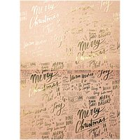 Rico Design Paper Patch Papier Schrift Jolly Christmas pastell 30x42cm
