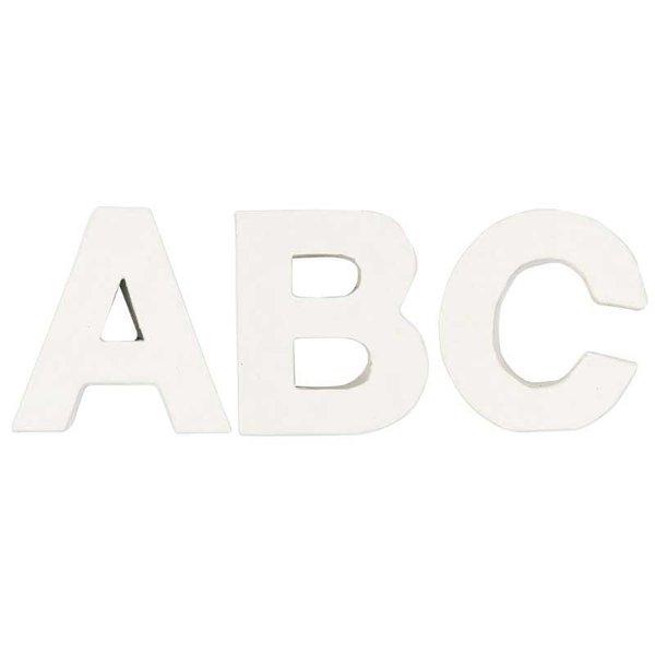 Rico Design 3D Pappbuchstaben weiß stehend