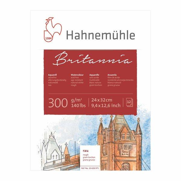 Hahnemühle Aquarellblock Britannia rau 24x32cm 300g/m² 12 Blatt