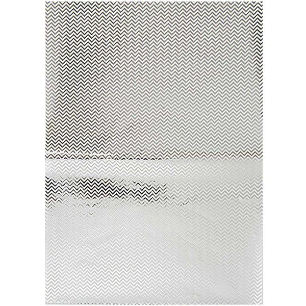 Rico Design Paper Patch Papier Zickzack silber 30x42cm Hot Foil