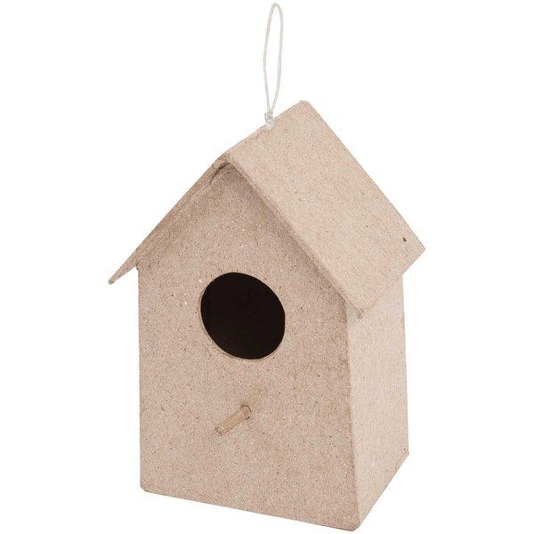 Rico Design Pappmaché Vogelhaus klein 5,5x13x3,5cm
