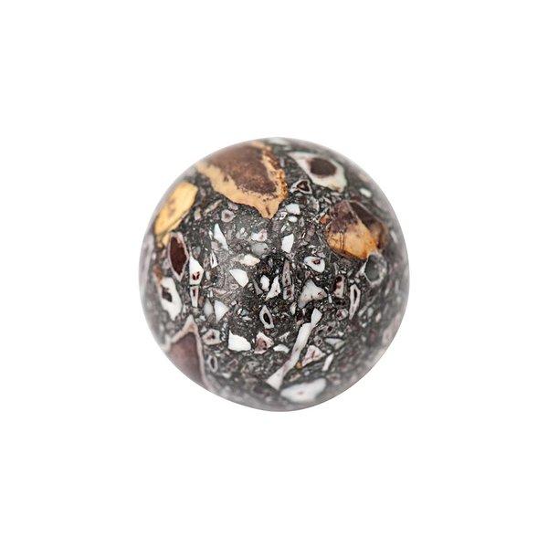 Jewellery Made by Me Kugel braun 16mm Halbedelstein 2 Stück