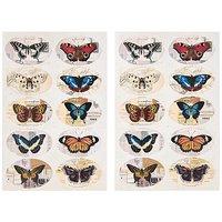 Paper Poetry Vintage Sticker Schmetterlinge 13 Stück
