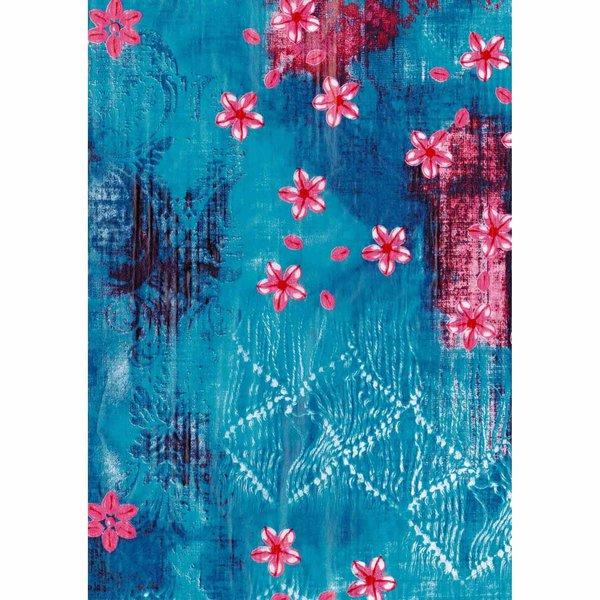 dcopatch papier muster blau pink 3 bogen - Bastelpapier Muster