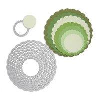 Sizzix Framelits Die Set Circles Scallop