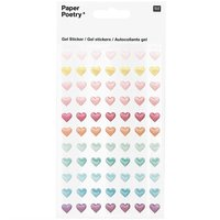Paper Poetry Gelsticker Herzen Glitter