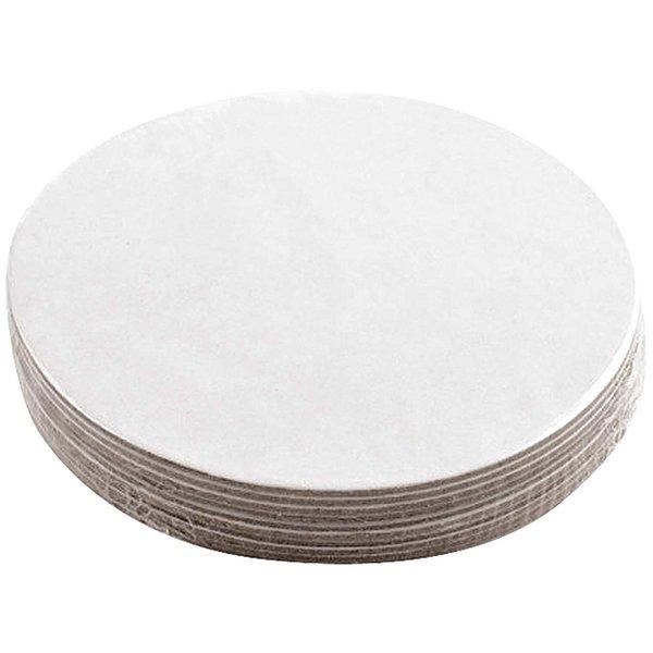 Rico Design Bierdeckel weiß rund 10 Stück