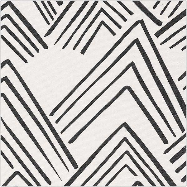 Rico Design Druckstoff Canvas  Berge grau 50x140cm
