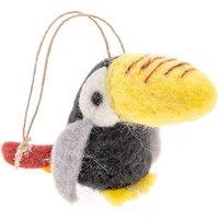 Filz-Tukan zum Hängen 10cm