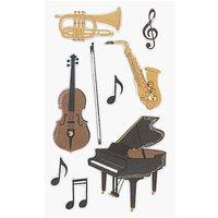Paper Poetry 3D Sticker klassische Musik