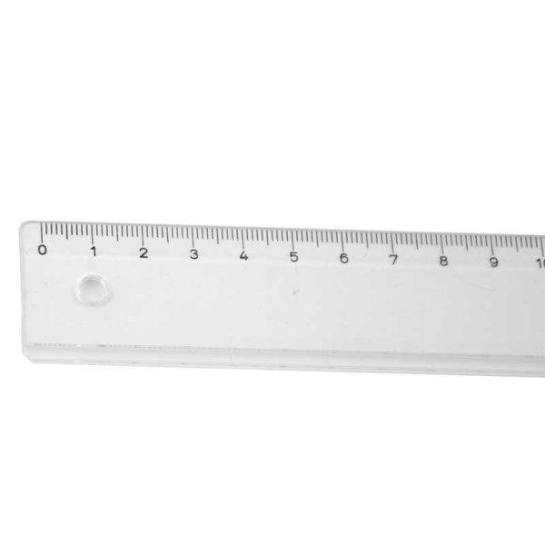 RUMOLD Schullineal transparent 50cm