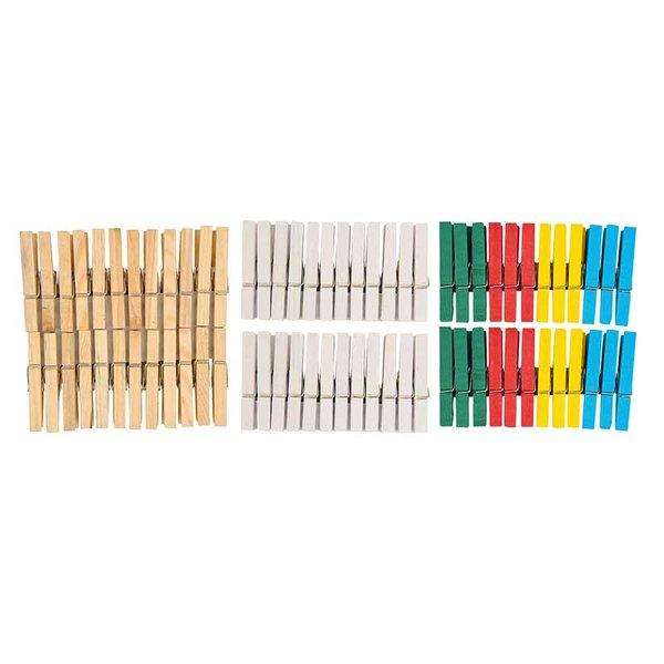 Rico Design Holzklammern 7,2cm 24 Stück