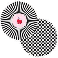 Rico Design Backförmchen groß schwarz-weiß 6cm 60 Stück