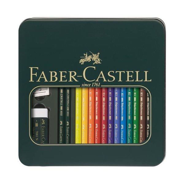 Faber Castell Polychromos Farbstifte im Metalletui 16teilig