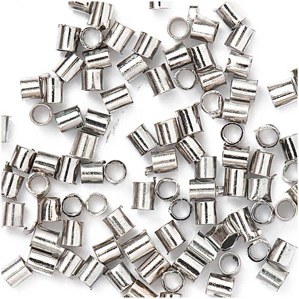 Jewellery Made by Me Röhrchen zum Quetschen silber 1,2mm 200 Stück