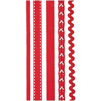 Rico Design Sticky Ribbons rot-weiß selbstklebend