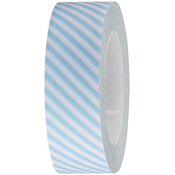 Rico Design Tape weiß-hellblau gestreift 15mm 10m