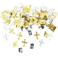 Rico Design Streu Kreuz & Bibel gold-silber 10g