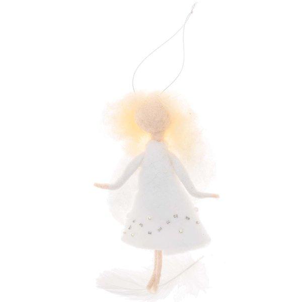 Filz-Engel zum Hängen weiß 12cm