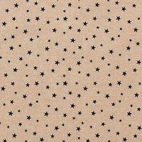 Rico Design Stoff Sterne klein natur-schwarz 50x70cm