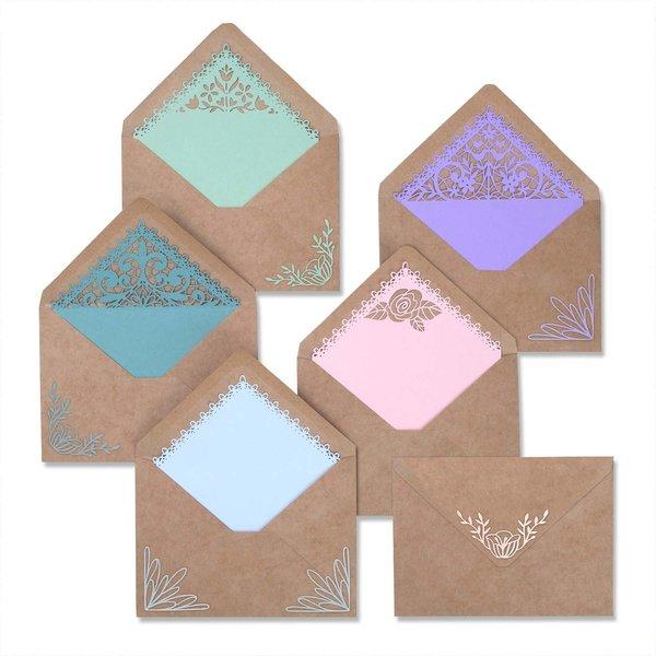 Sizzix Thinlits Die Set Envelope Liners Intricate by Katelyn Lizardi