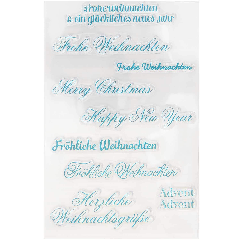 Paper Poetry Silikonstempel Schriften Weihnachten 9 Motive kaufen »