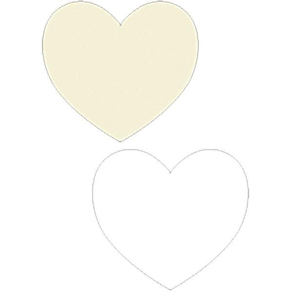 Paper Poetry Papierzuschnitte Herzen weiß-ecru 9 Stück