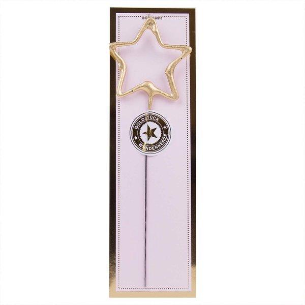 Wondercandle Wunderkerze Symbol Stern classic gold