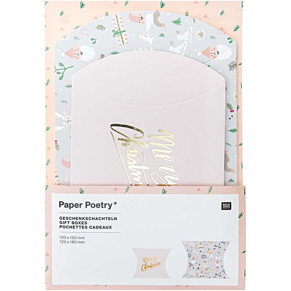 Paper Poetry Geschenkschachteln Jolly Christmas Pastell 6 Stück