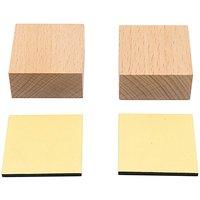 Paper Poetry Holzstempelblock quadratisch 4x4x2cm 2 Stück
