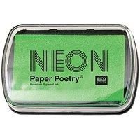 Paper Poetry Stempelkissen neongrün 9x6cm