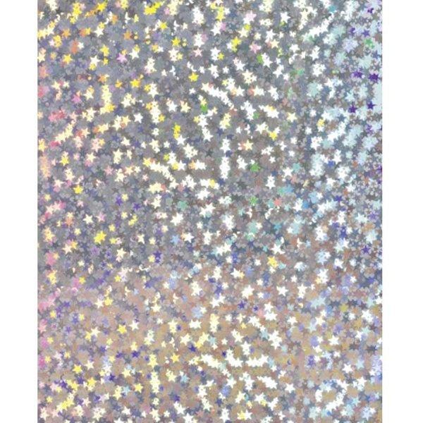 HEYDA Holografiekarton Sterne silber 50x70cm