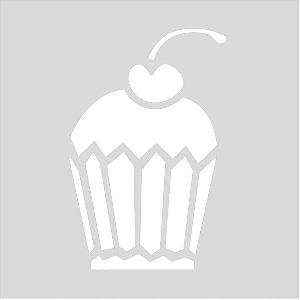 Rico Design Schablone Cupcake 7,5x7,5cm selbstklebend