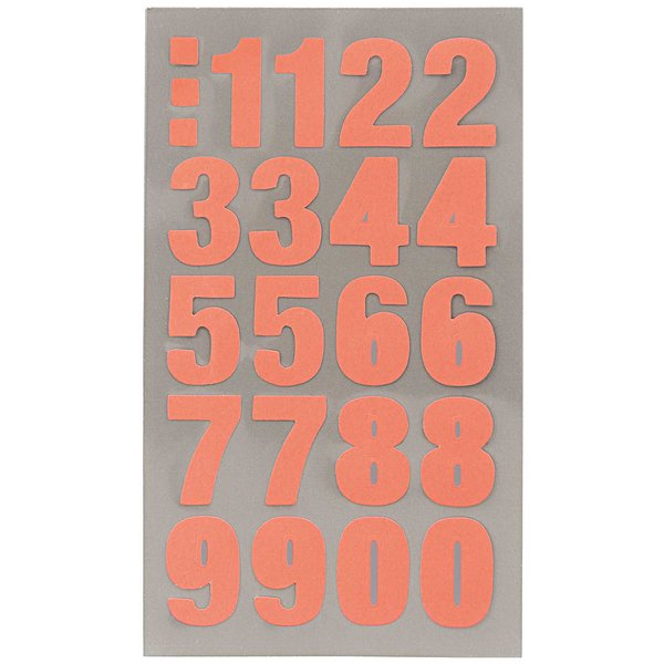 Paper Poetry Office Sticker Zahlen neonrot 4 Bogen