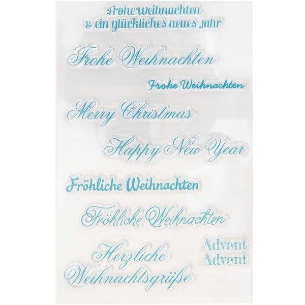 Frohe Weihnachten Schrift.Paper Poetry Silikonstempel Schriften Weihnachten 9 Motive