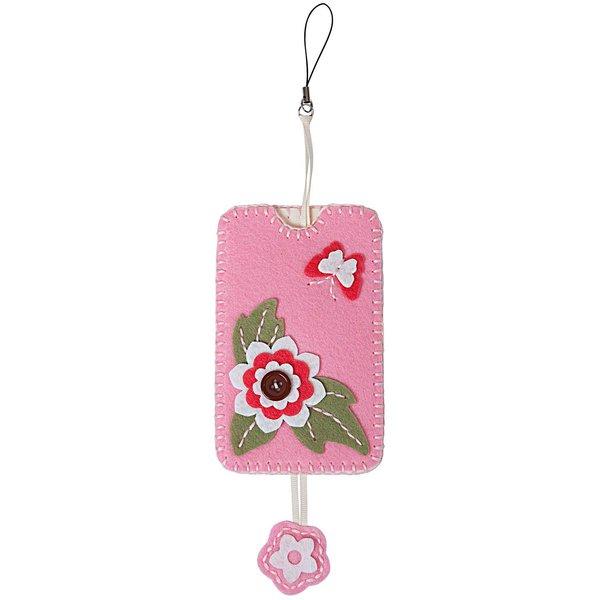 Rico Design Filzbastelset Handytasche rosa