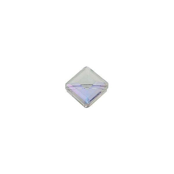 Jewellery Made by Me Perle geschliffen eckig irisierend 13x9mm Glas 4 Stück