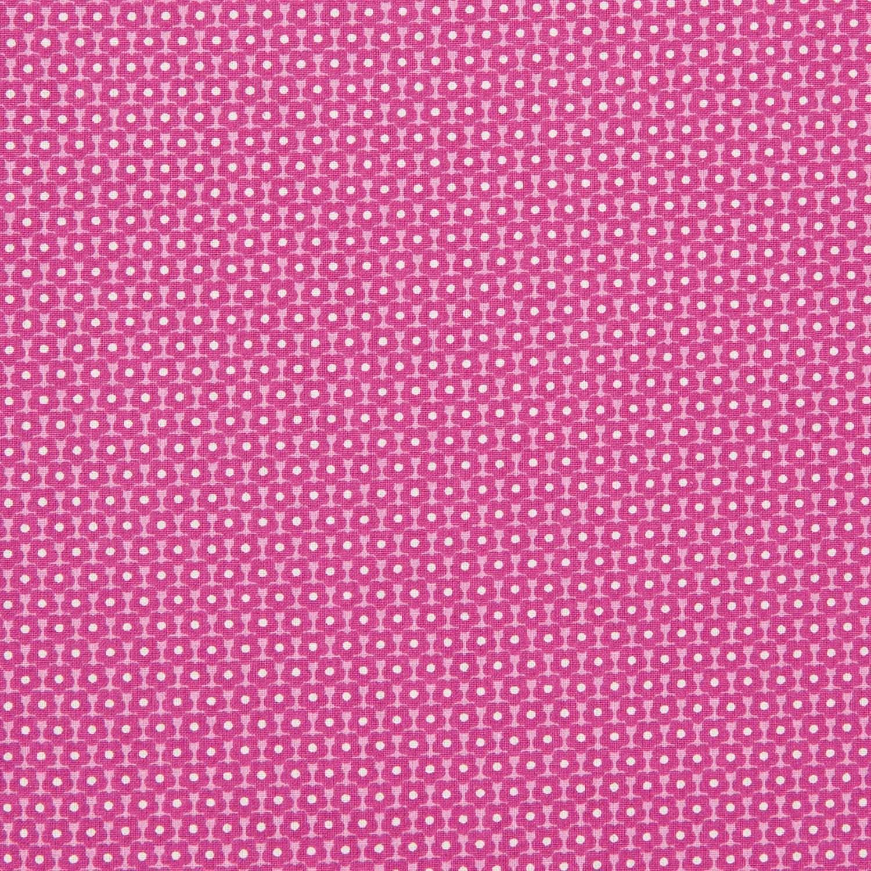 Blümchenstoff in Pink