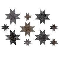 Paper Poetry Fröbelsterne Graphic schwarz-metallic 40 Stück