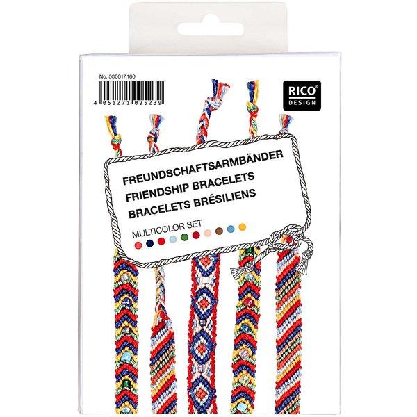 Rico Design Freundschaftsbänder Set mehrfarbig