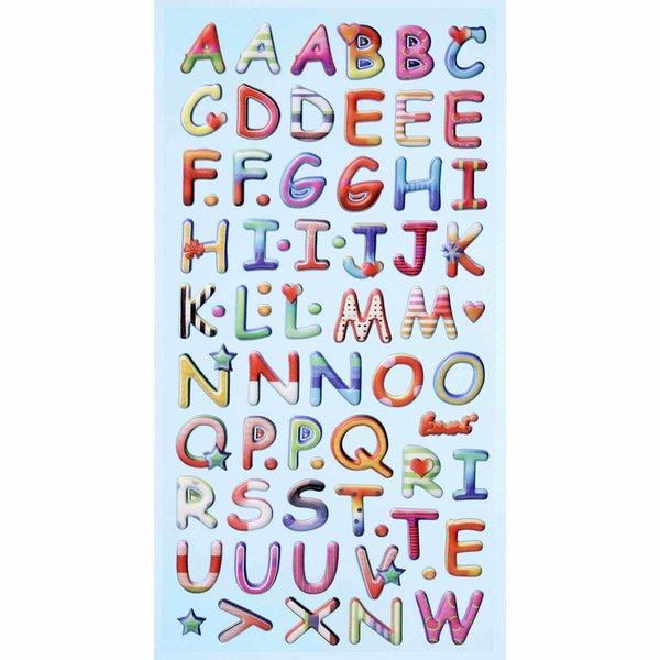 HobbyFun SoftySticker Design Buchstaben mehrfarbig