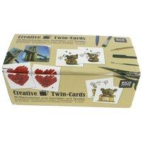 Rico Design Twin Cards Legespielkarten zum Selbstgestalten 6x6cm 60 Stück