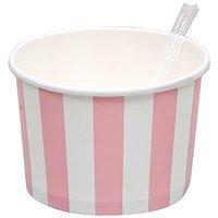 Rico Design Eisbecher rosa-weiß 10 Stück
