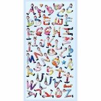 HobbyFun SoftySticker Clown-Buchstaben 17,5x9cm
