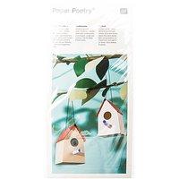 Paper Poetry Bastelset Vogelhäuschen 7x11x7,5cm 8 Stück