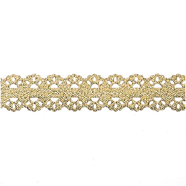Band Bordüre geprägt gold 15mm 5m