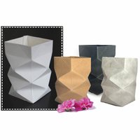 Anleitung Vase aus Lederpapier basteln