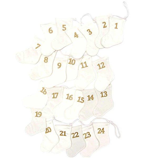 Adventskalender Socken Weiß Gold Günstig Online Kaufen