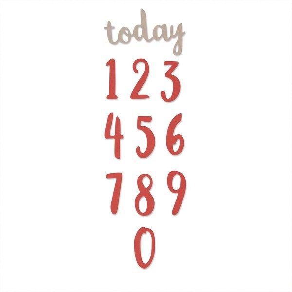 Sizzix Thinlits Die Set Brush Numbers by Debi Potter
